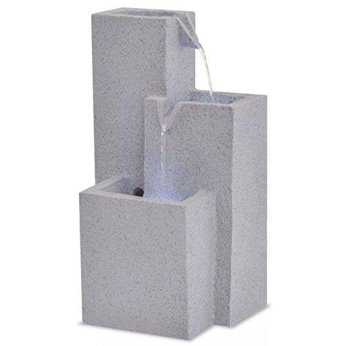 Fontaine à eau d'intérieur avec lumière LED de poly résine