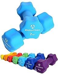Haltères en néoprène »Lire« haltères courts dans différents poids et choix de couleurs / de 0,5kg à 4kg
