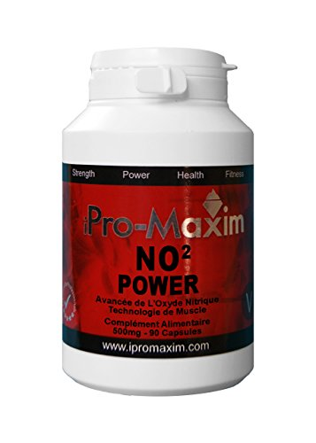 NO2 Nitric Oxide iPro-Maxim POWER (180 caps) 1000 Mg per capsule – The most powerful Professional GRADE next level sporting supplement on the market The most complete muscle anabolism supplement which Maximizes, intense muscle pumps
