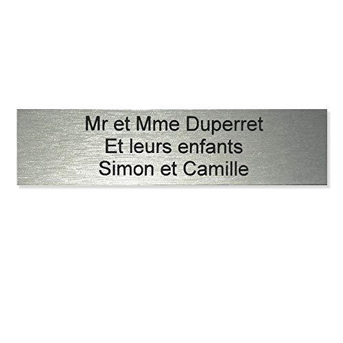 Placca cassetta delle lettere 100x25mm colore argento