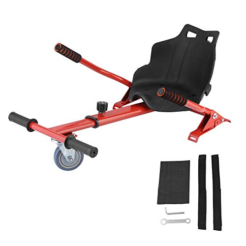 JICHUI Erwachsene Kinder Karting Halter für Selbst Balancing Elektro-Scooter 6.5/8/10-Zoll-Karre Aufsitzmäher Shock absorbieren(rot)