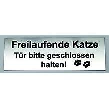 Puerta SCH iild Piñón libre de gatos Puerta por favor cerrado Mantener placa de grabado,