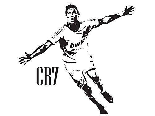 Cristiano Ronaldo CR7 Real Madrid arte pared etiqueta