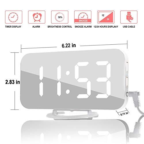 Despertador Digital Espejo LED Despertador Electrónico