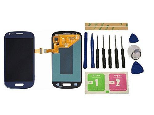 Flügel per Samsung Galaxy S3 Mini i8190 i8200 Schermo Display LCD Display Blu Touch Screen Digitizer ( Senza Frame ) di ricambio e Strumenti Gratuiti