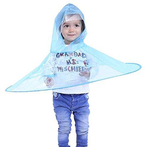Kreative Regenmantel, ANGTUO Regenschirm Kopfbedeckung Hut Faltbare Outdoor Angeln Golf Regen Mantel Abdeckung Transparente Regenschirme für Kind Erwachsene S / M / L (Hut Mantel, Regenschirm)