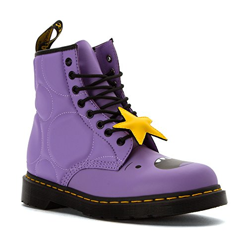 Dr.Martens Womens 1460 Lumpy Space Princess 8 Eyelet Leather Boots Lilac