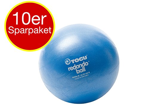10 x Togu Redondo Ball Pilates Ball Gymanstik Yoga Fitness Therapie 22cm blau