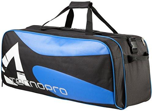 Tecnopro Tennis-Tasche Duffle Bag Large Tennistasche, Schwarz/Blau, 82 x 30 x 35 cm (Adidas Schwarzes Tennis-tasche)