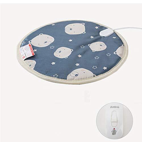 Preisvergleich Produktbild DMZYZZ Jahrgang Heizung PET Pad Elektrisch,  Wasserdicht Warm Pflegeleicht Matten,  konstante Temperatur Hunde Bettdecke für den Winter, Blue, 45x45cm