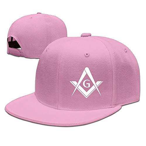 Generic Einstellbare Baseballmütze Trucker Hat Unisex/Herren/Damen - Freemason Logo Square and Compass 1 -