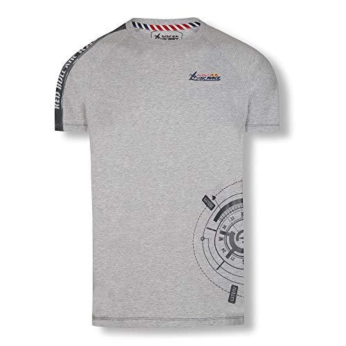 Red Bull Air Race Compass T-Shirt, Gris Herren Small T-Shirt, Air Race Original Bekleidung & Merchandise -