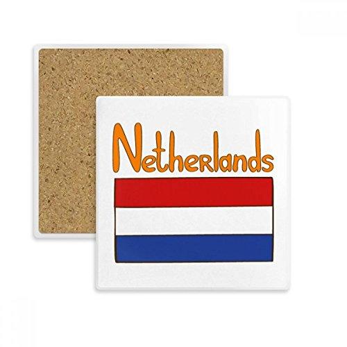 DIYthinker Motif Drapeau National des Pays-Bas Place Coaster Tasse Porte Absorbent Pierre pour Le Cadeau de Boissons Multicolor