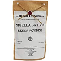 Semillas de Comino Negro - Polvo (Nigella sativa) 50g / Nigella Sativa Seeds Powder 50g - Health Embassy - 100% Natural