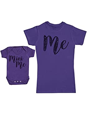 Me & Mini Me - Passende Mutter Baby Geschenk Set - Damen T-Shirt & Baby Strampler
