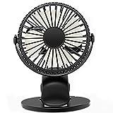 Gxrzyclh Ventilateur portatif Silencieux de Batterie de Ventilateur de Fan de Bureau...