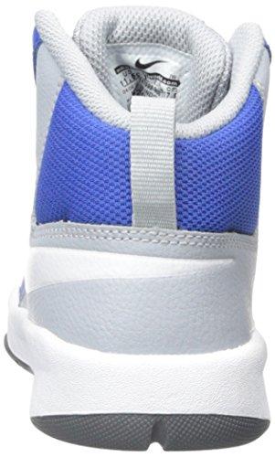 Nike Team Hustle D 7 (Ps), Chaussures de Sport-Basketball Garçon Game Royal/White/Wlf Grey/Blck