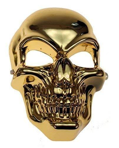 Schädel Kostüm Halloween - Gravidus Totenkopf Maske Schädel Skelett Halloween Karneval Kostüm (Gold)