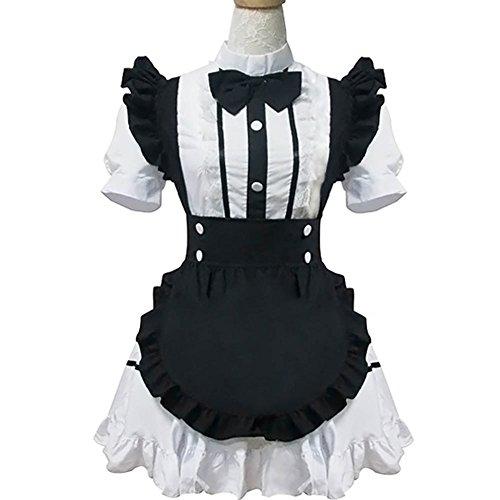 Frauen französisches dienstmädchen - Kostüm Halloween - Kostüm Schick Cosplay Kleid nachtwäsche Dessous - Sets (M) (Einheitliche Kostüme Uk)