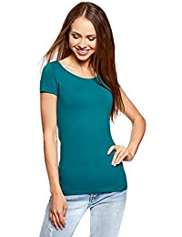 oodji Ultra Donna T-Shirt Basic Aderente Senza Etichetta