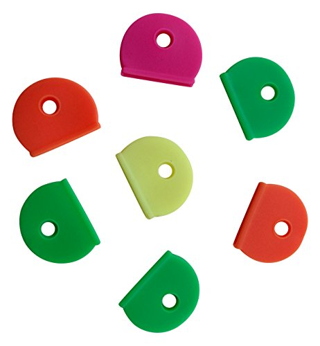 10-x-neon-key-cap-caps-top-covers-tags-id-markers-marker-keyring-mixed-colours