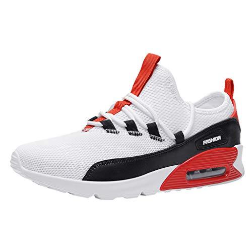 Lilicat Scarpe Sportivo Uomo Scarpe da Ginnastica Corsa Air Sneakers Basse Interior Casual All'Aperto Scarpe da Corsa(Rosso A,40 EU)