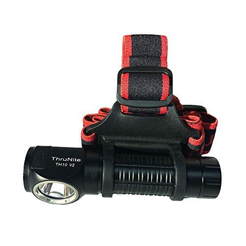 ThruNite TH10 V2 - LED-Stirnlampe/LED-Kopflampe inkl. USB-Anschluß -> wiederaufladbar; CREE XHP35 HI LED mit bis zu 2100 Lumen (Kaltweiss)