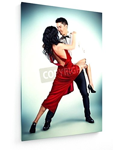 Tango Kostüm Tänzer (Tango - 40x60 cm - Textil-Leinwandbild auf Keilrahmen - Wand-Bild - Kunst, Gemälde, Foto, Bild auf Leinwand -)