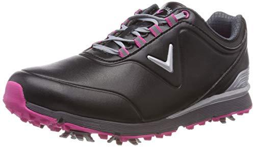 Callaway Lady Mulligan, Chaussures de Golf Femme, Noir/Rose, 39 EU