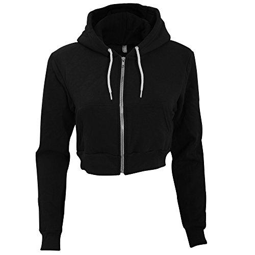 american-apparel-flex-sweatshirt-capuche-et-fermeture-zippe-raccourci-femme-m-noir