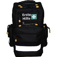 Erste Hilfe Notfallrucksack Farbe schwarz für Sportvereine & Freizeit - Nylonmaterial mit weißen Reflexstreifen preisvergleich bei billige-tabletten.eu