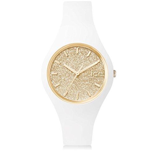 ter White Gold - Weiße Damenuhr mit Silikonarmband - 001345 (Small) (Tom Watch)