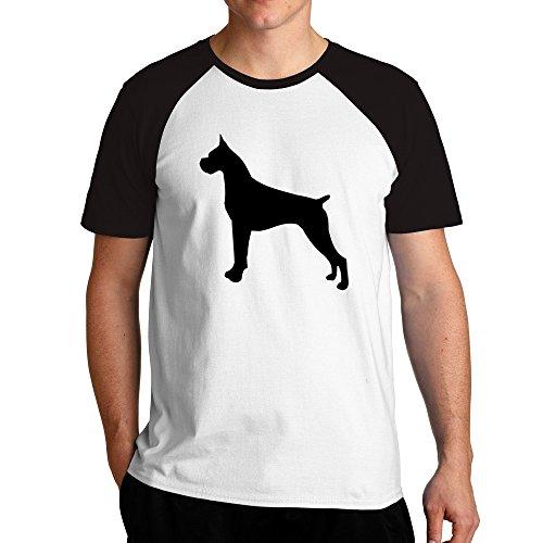 Eddany Boxer silhouette Raglan T-Shirt (Boxer Hund Silhouette)