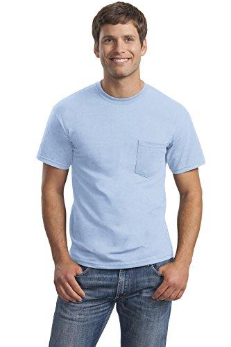 Logotastic -Adult Rmk Gildan-Ultra Cotton 100% T-Shirt with Pocket-Ash-, Light Blue, X-Large -