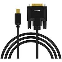 aROTaO USB C auf DVI Kabel(24+1)(4K@30Hz), USB 3.1 Typ C DVI Kabel Adapter(6FT/1,8M)(Thunderbolt 3) Kompatibel für MacBook,MacBook Pro,ChromeBook Pixel,iPad Pro 2018,Mac Mini 2018,Samsung S8/S9 usw.