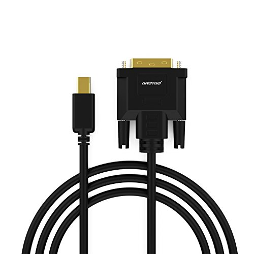 aROTaO USB C auf DVI Kabel(24+1)(4K@30Hz), USB 3.1 Typ C DVI Kabel Adapter(6FT/1,8M)(Thunderbolt 3) Kompatibel für MacBook,MacBook Pro,ChromeBook Pixel,iPad Pro 2018,Mac Mini 2018,Samsung S8/S9 usw. -