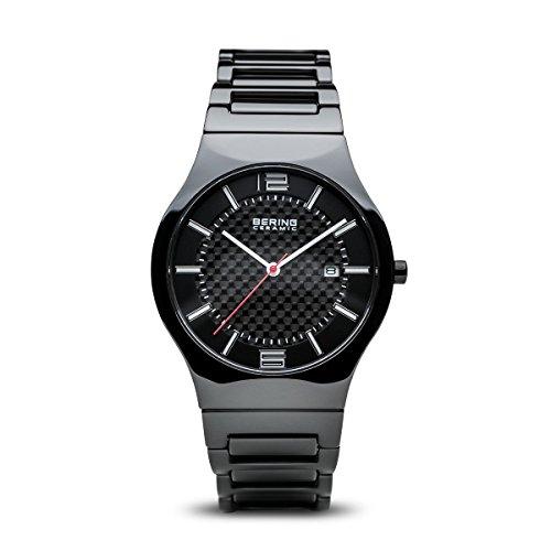 Bering orologio uomo ceramica quadrante nero 31739–749