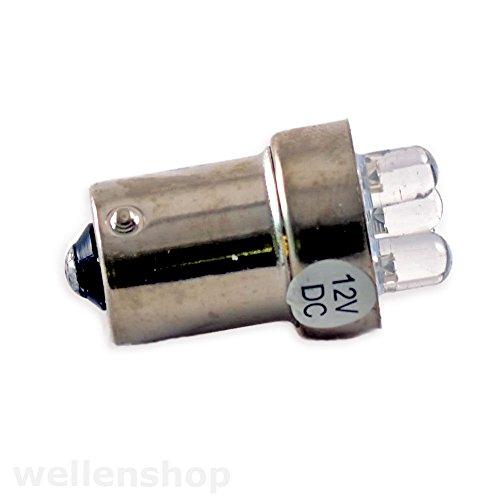 wellenshop 12 V 3 LED Leuchtmittel BA15S weiß