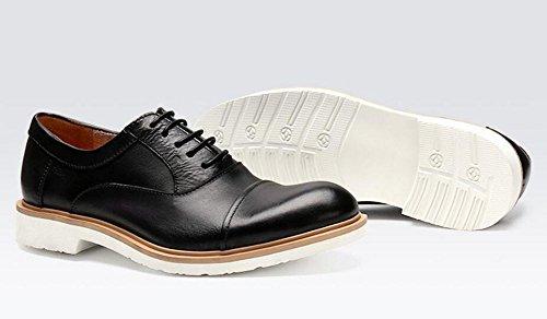Hommes Chaussures à lacets Chaussures Oxford Angleterre Chaussures rétro Chaussures Casual Business Chaussures en dentelle en cuir de haute qualité Rouge Noir Khaki Black