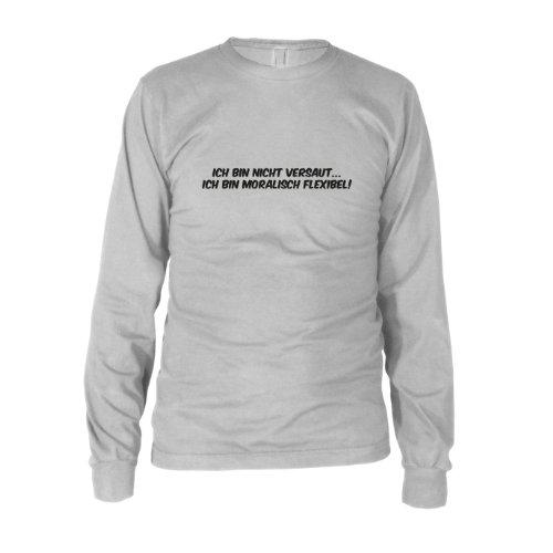 Moralisch Flexibel - Herren Langarm T-Shirt Weiß
