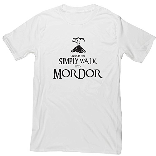 Hippowarehouse One Does Not Simply Walk Into Mordor Unisex Short Sleeve t-Shirt (Specific Size Guide In Description)