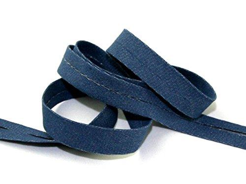 20mm Denim Baumwolle Schrägband Blau-Meterware + Gratis Minerva Crafts Craft Guide - Denim-guide