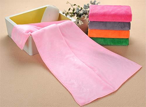 ZQBQY Mikrofaser-Gewebe-Tuch-trockenes Haar-Schönheitssalon-Friseursalon-spezieller Tuch-Großverkauf- super saugfähiges Gesicht-Handtücher 16 Farben 35X75Cm 110G Rosa