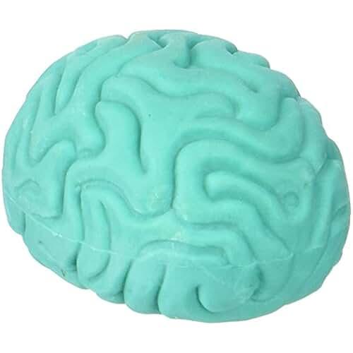 material para la escuela kawaii Mustard Brain Erasers - Gomas de borrar para lápiz en forma de cerebro, varios colores