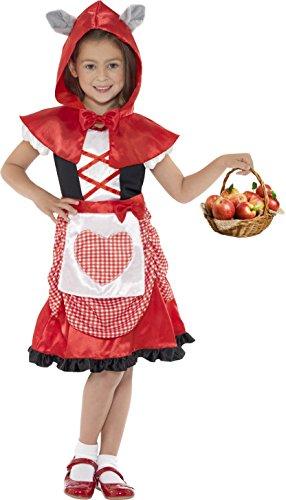 Hood Kostüm, Kleid und Kapuzenumhang mit angesetzten Wolfsohren, Größe: M, 41100 (Nicht Scary Halloween-kostüme Für Mädchen)