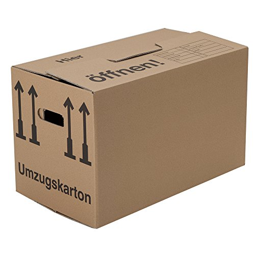 10 Umzugskartons (Spedition) 660 x 360 x 380 mm 2-wellig 40 kg Volumen: 84l