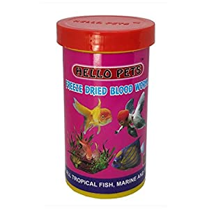 Hallofeed Freeze Dried Blood Worms Fish Food – 20 Gms