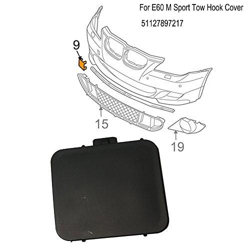 ricoy vorne Echt E605Seires Limousine M Sport Bumper Tow Haken Cover Gap 51117897210 (Bmw Front-emblem-aufkleber)