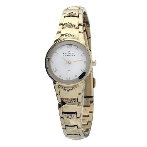 Guess 812XSGXG - Reloj analógico para mujer de acero inoxidable blanco