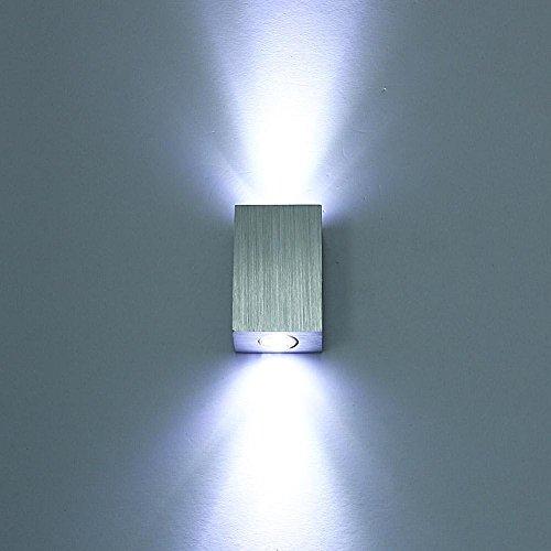 Lightess 6W Led wandleuchten innen aus Aluminium Licht Leuchte für Theater Studio Store Halle Porch Korridor Nacht Schlafzimmer, Kaltes Weiß Wandleuchte Home Theater